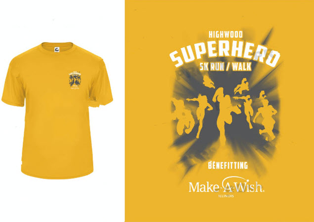 2019 5k Super hero Run shirt